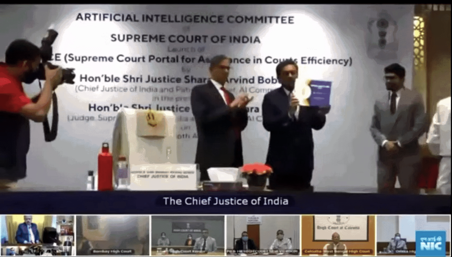 The April 2021 launch of SUPACE, inaugurated by former CJI SA Bobde and current CJI NV Ramana